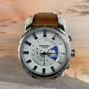Diesel Men's DZ4357 'Stronghold' Leather Watch